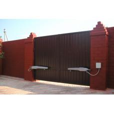 Распашные ворота с зашивкой из профлиста