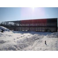 Двухэтажный навес для складирования