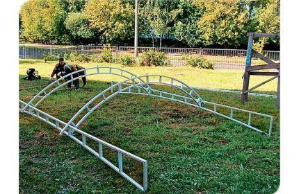 Фермы для навеса арочные