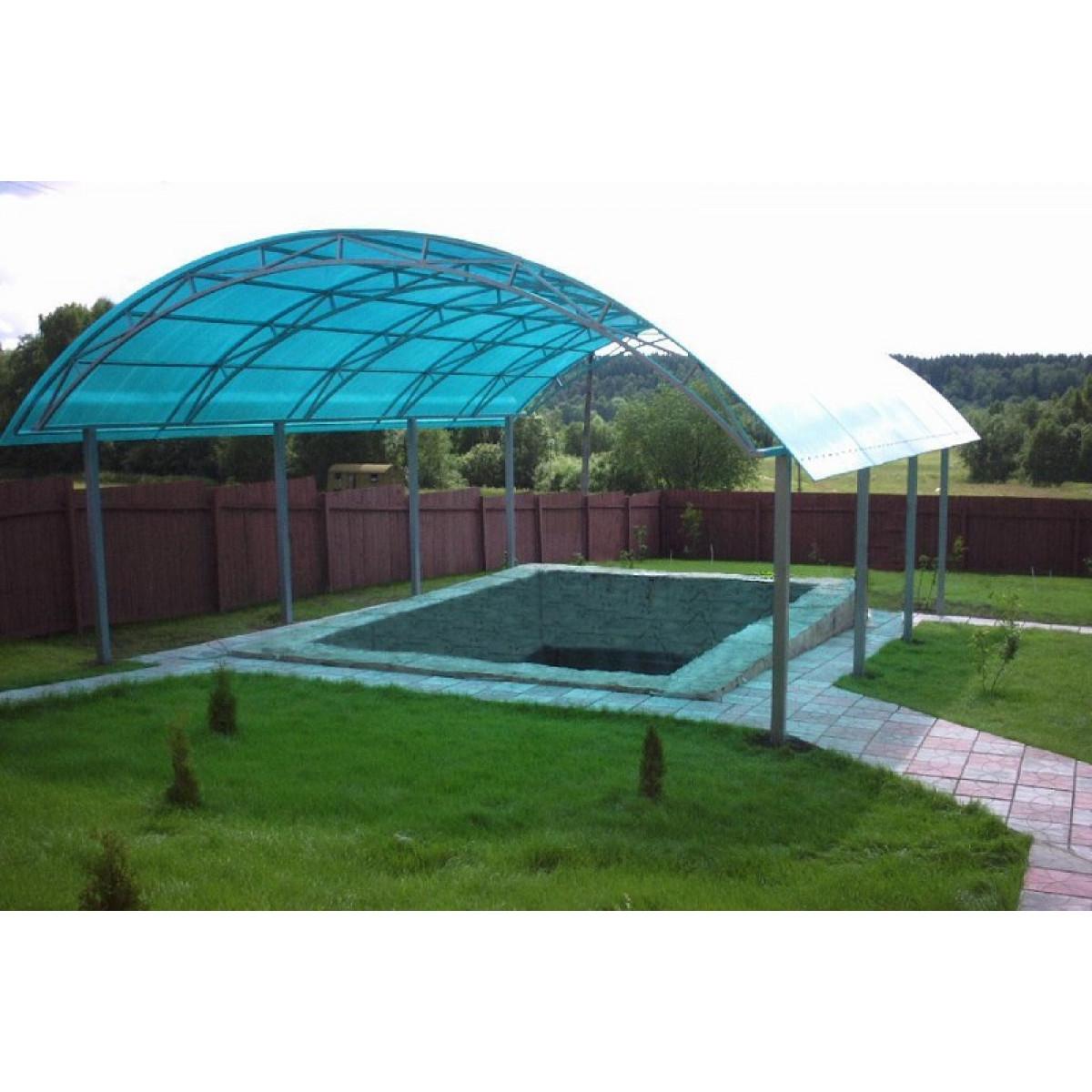 Навес арочный для бассейна