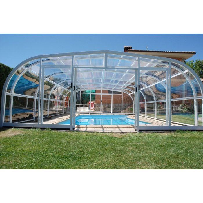 Навес павильон для бассейна с монолитным поликарбонатом