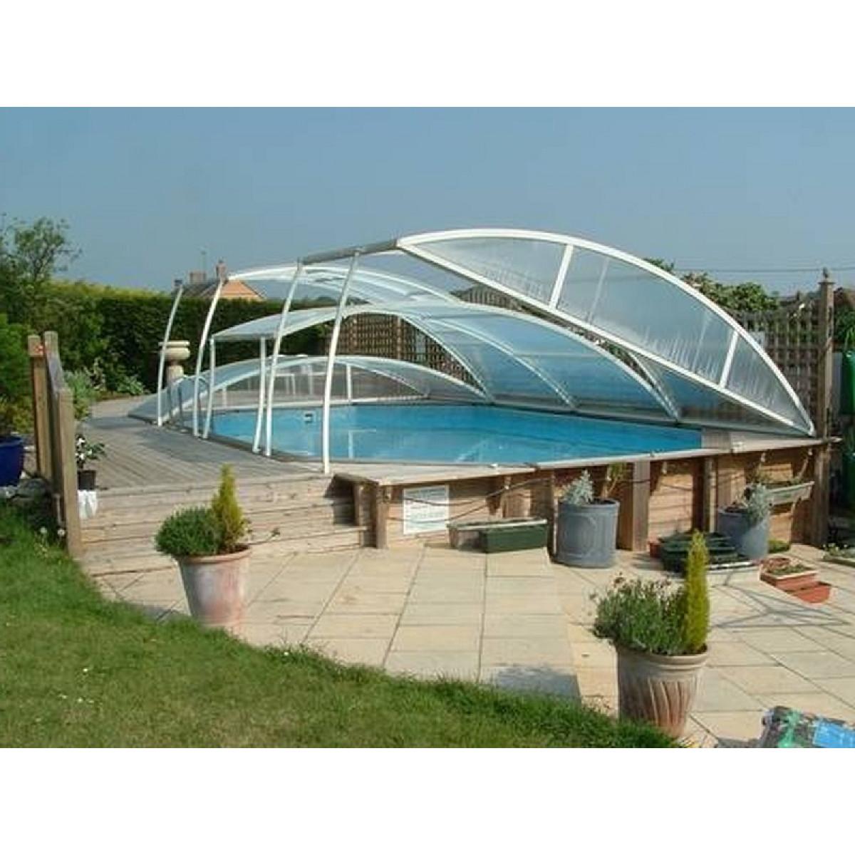 Арочный навес над бассейном многоуровневый