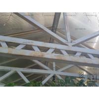 Ремонт двускатного навеса с поликарбонатом