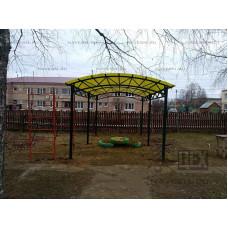 Арочный навес 3х6м над детской площадкой.