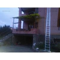 Навес с примыканием к балкону