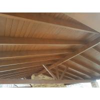 Навес двускатный деревянный