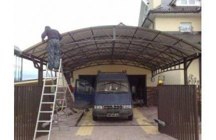 Навес у гаража