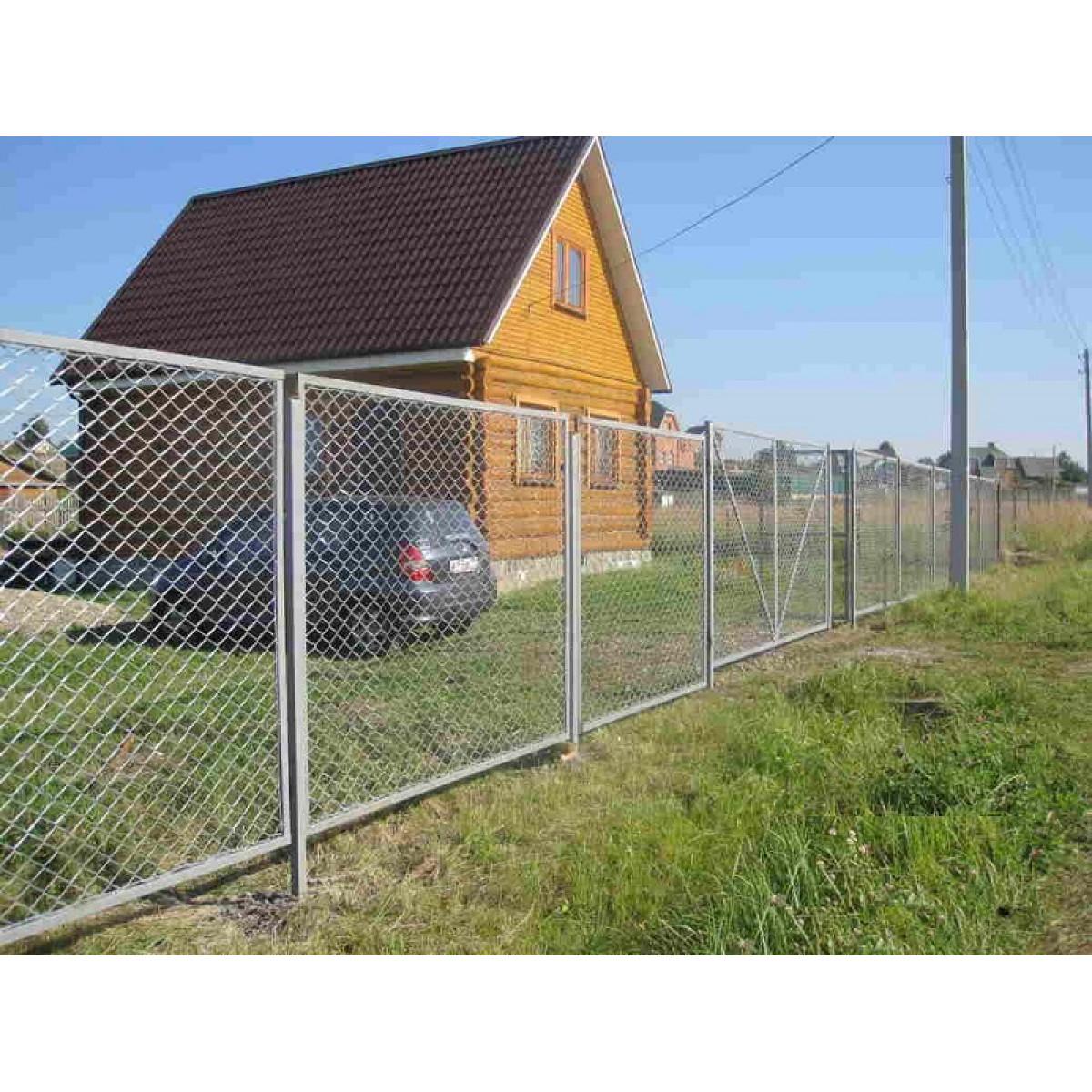 Забор под ключ сетка рабица
