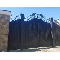 Распашные ворота волной