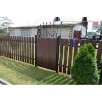 Забор штакетник деревянный