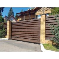 Ворота откатные деревянные