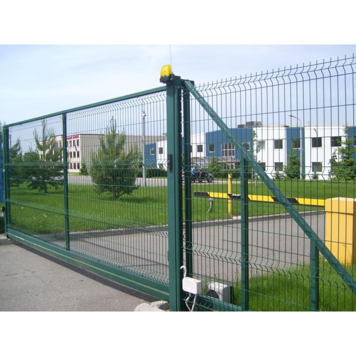 Откатные ворота. Заполнение 3Д сетка